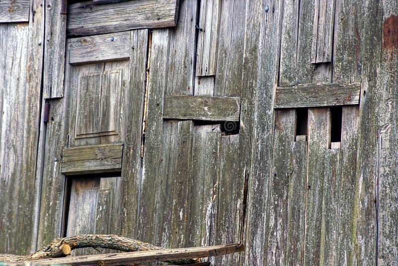 Grå trätextur av gamla skjulbräden royaltyfri bild