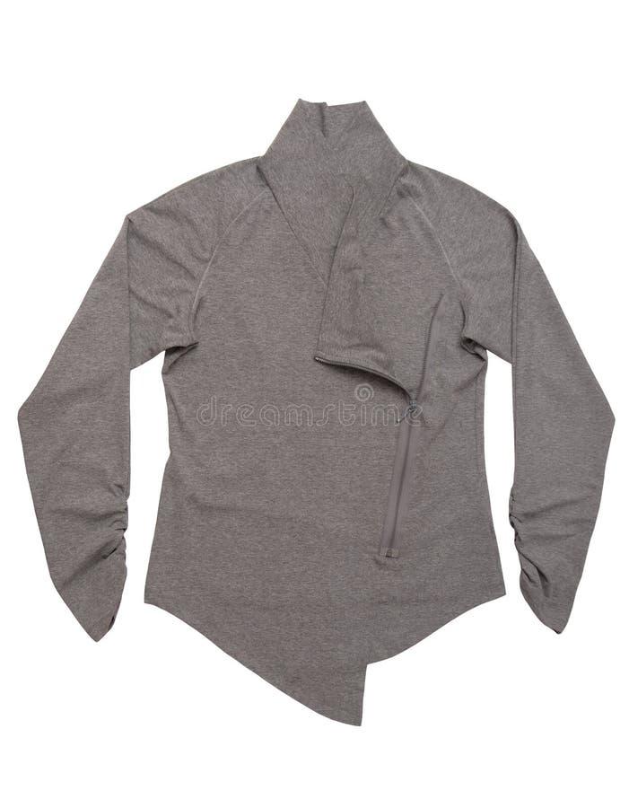 Grå tröja med vinandet arkivfoton