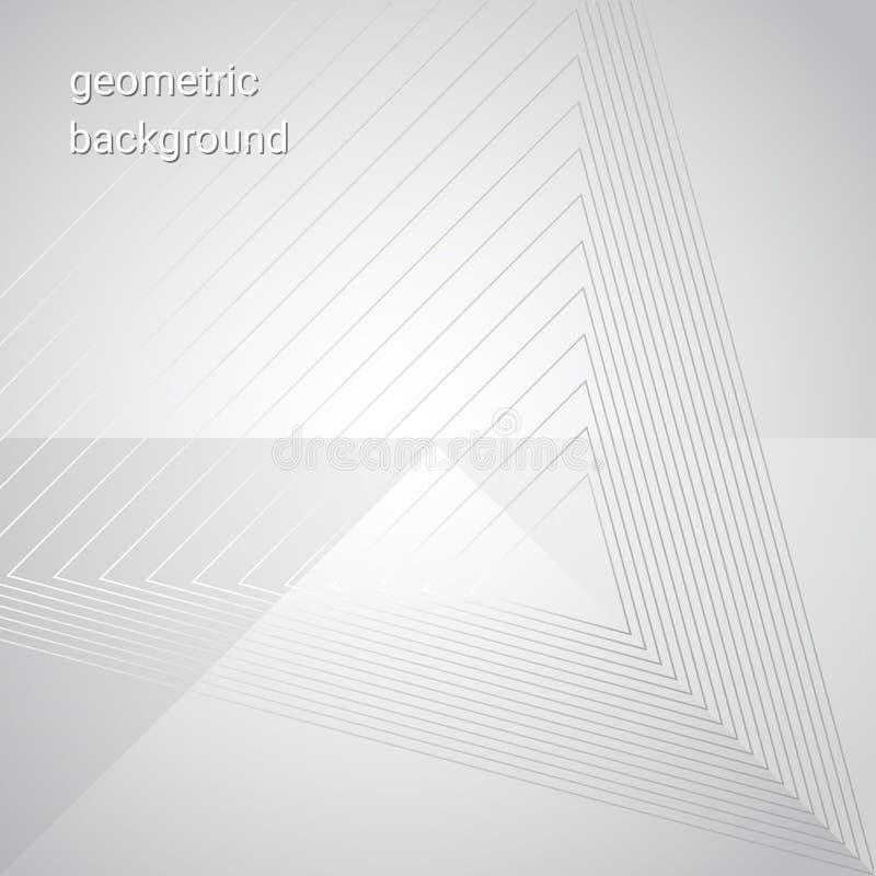 Grå triangulär geometrisk bakgrund för vit för din mall vektor illustrationer