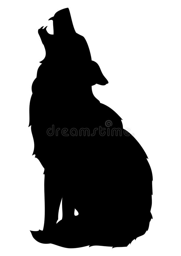 Grå varg stock illustrationer