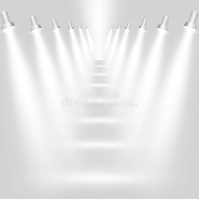 gråa ljusa strålkastarear för abstrakt bakgrund