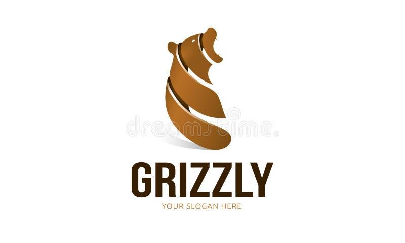 Gråsprängd logo stock illustrationer