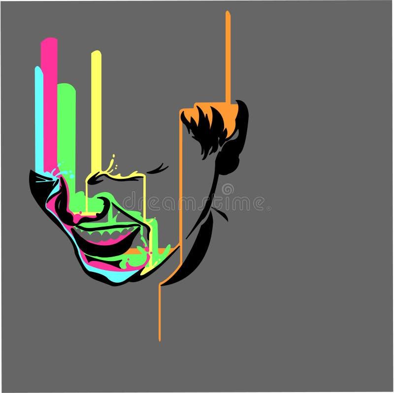 gråta för färglaughtermalm stock illustrationer