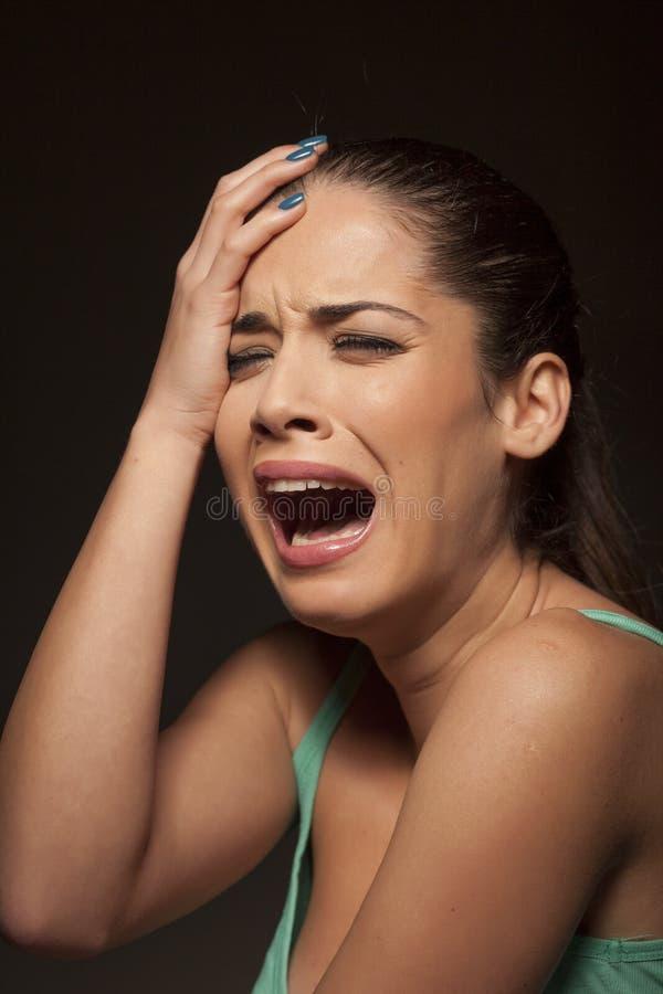 gråta kvinna arkivbilder