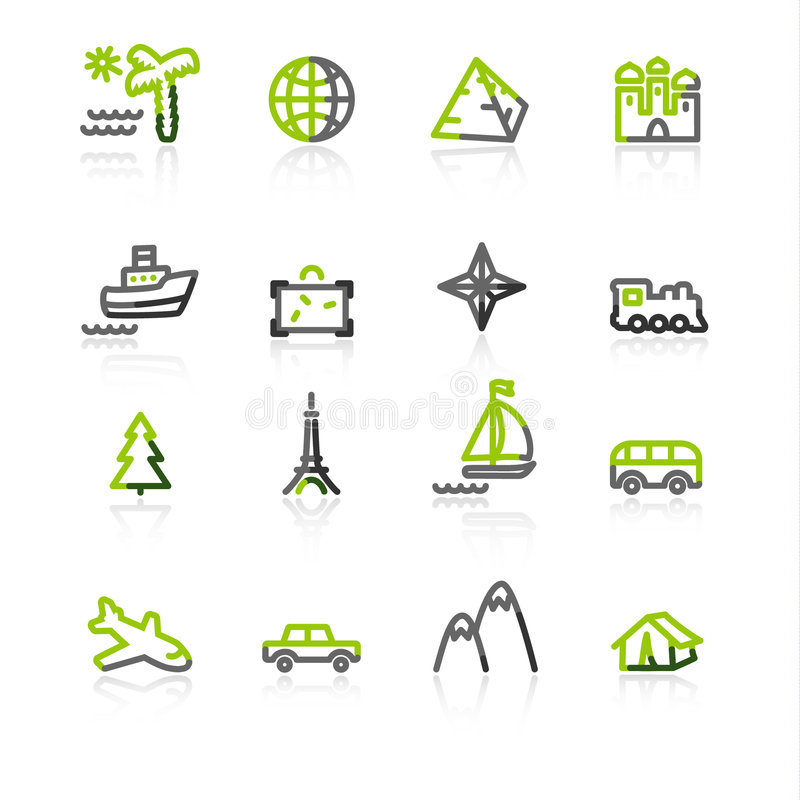 grått grönt symbolslopp vektor illustrationer