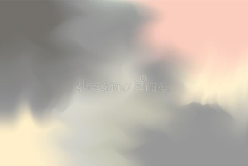 Grått mjukt för bakgrundsmålning för pastellfärgad färg blandat abstrakt begrepp för pastell för konst, färgrik konsttapet vektor illustrationer