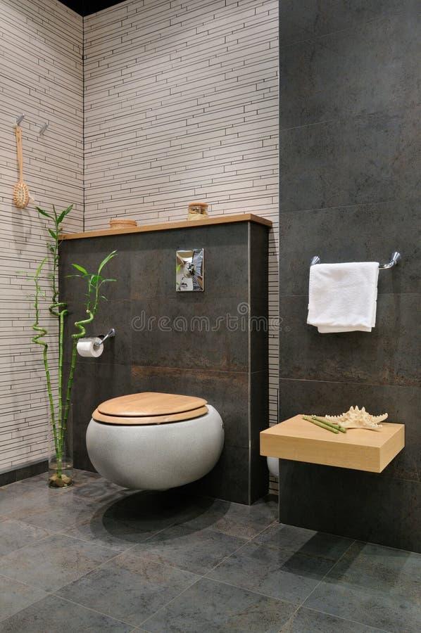 grått modernt för badrum royaltyfria foton
