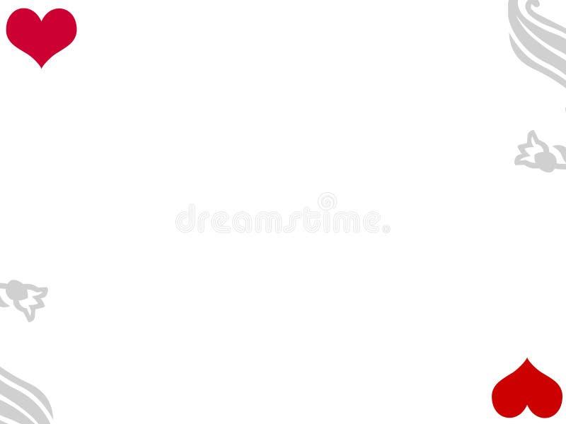 Grått rött för blom- kort för förälskelsehjärtabakgrund royaltyfri illustrationer