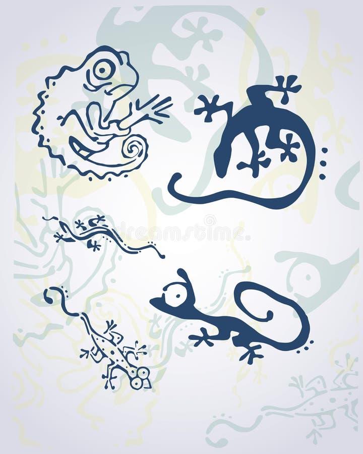 grått val royaltyfri illustrationer