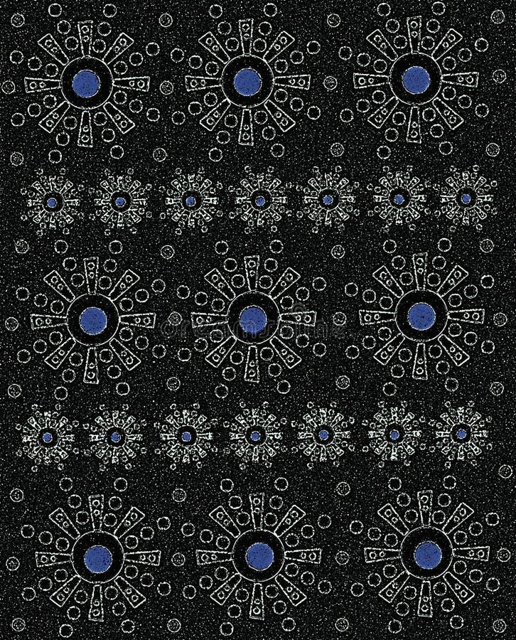 Grès noir aztèque avec le bleu illustration libre de droits