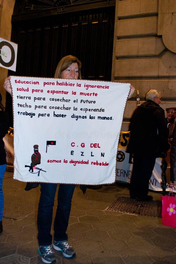 grève 14N européenne générale photographie stock libre de droits