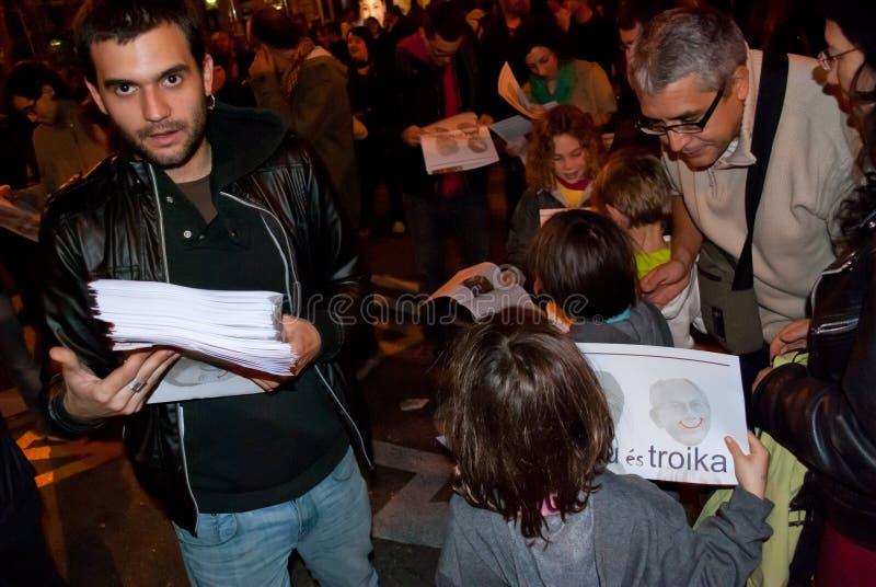 grève 14N européenne générale image libre de droits