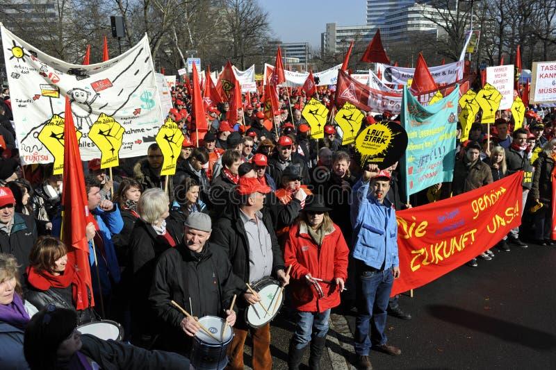 Grève d'avertissement photo libre de droits