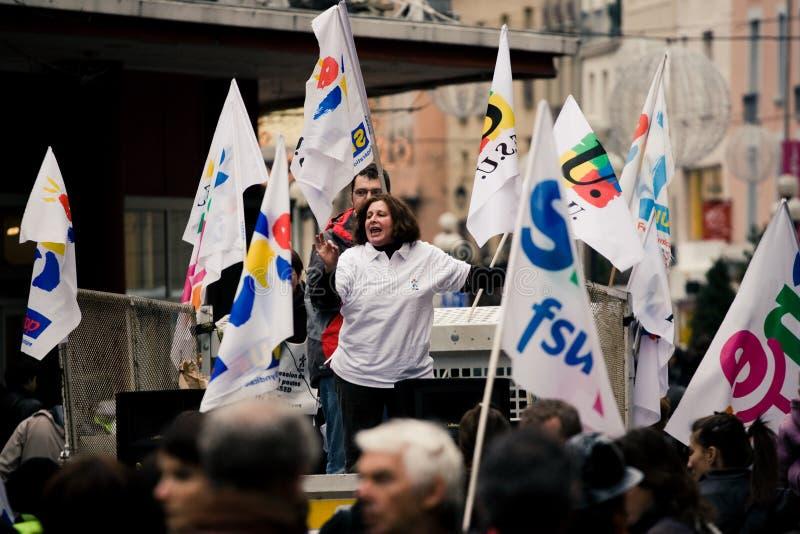 Grève de professeurs français photographie stock libre de droits