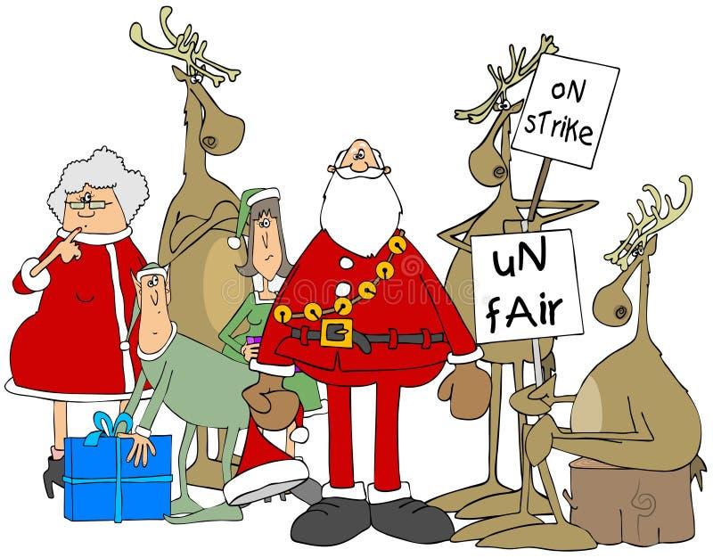 Grève de renne au Pôle Nord illustration stock