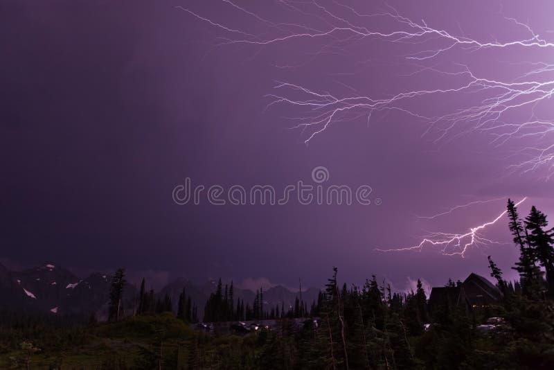 Grève surprise au paradis dans le Mt Rainier National Park images stock