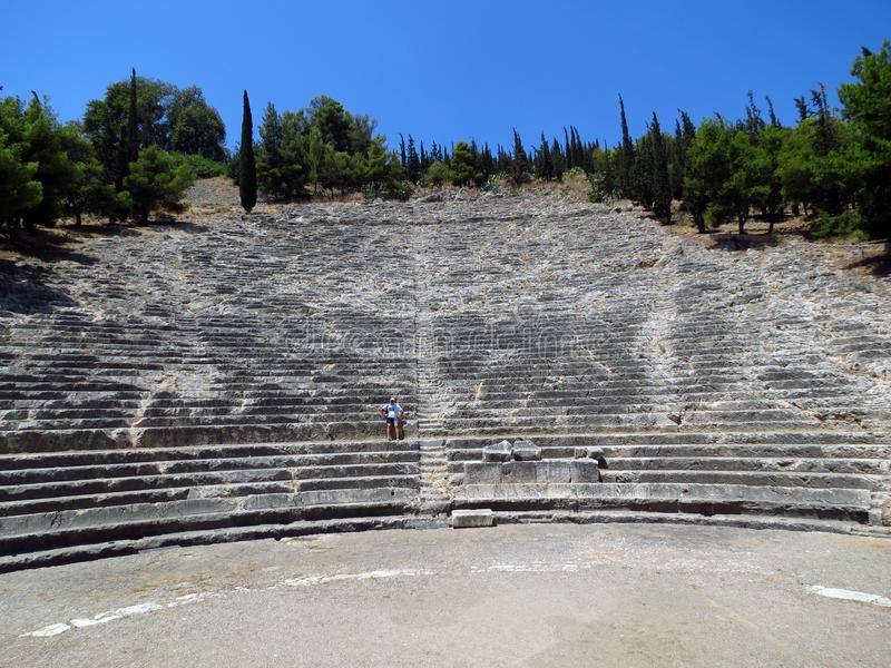 Grécia, Argos, o anfiteatro antigo foto de stock royalty free