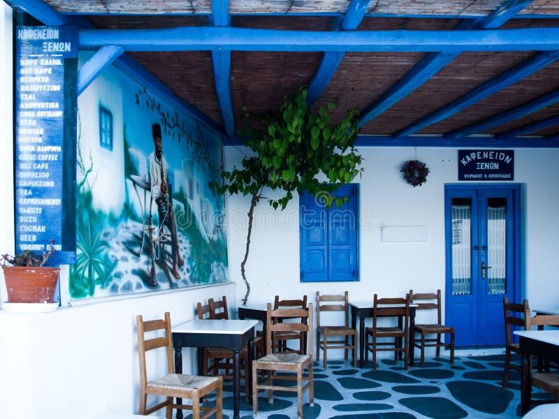 Grécia, Atenas, taverna típico do restaurante na vizinhança de Plaka do La imagens de stock