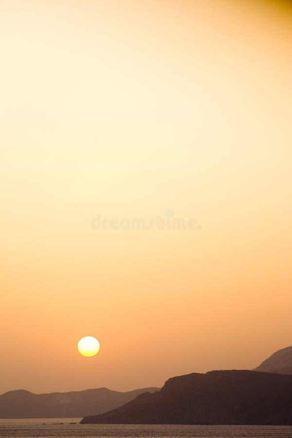 Grécia, Creta, nascer do sol fotografia de stock royalty free