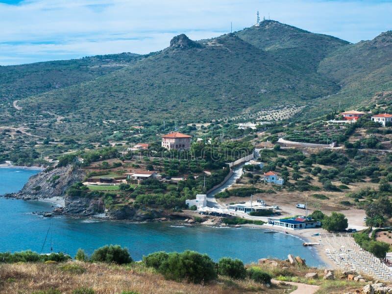 Grécia, fora de Atenas, Mar Egeu, estância balnear, no vale fotografia de stock royalty free