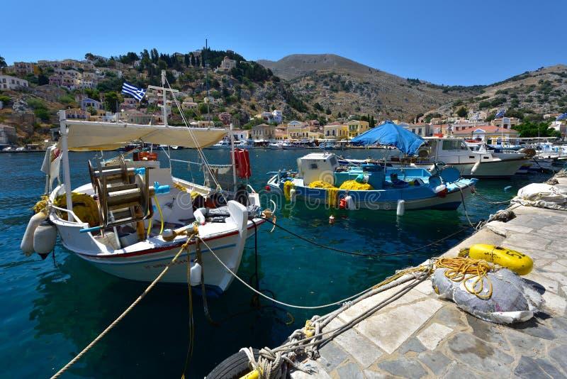 Grécia, ilha de Symi imagem de stock royalty free