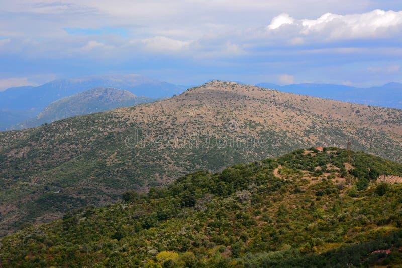 Grécia, montanhas, Peloponnese fotos de stock royalty free