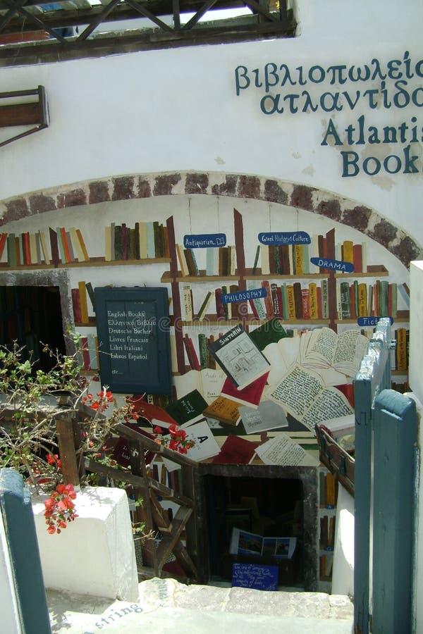 Grécia, Santorini, a entrada à livraria fotografia de stock royalty free