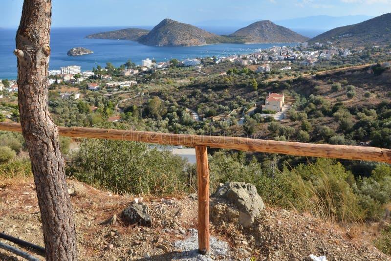 Grécia, Tolo-cidade Tolo e ilha Koronisi imagens de stock royalty free