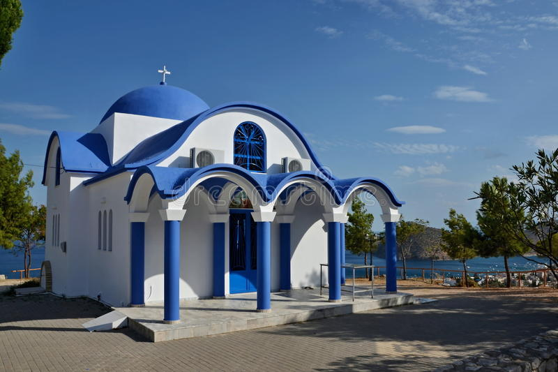 Grécia, Tolo-igreja imagem de stock royalty free