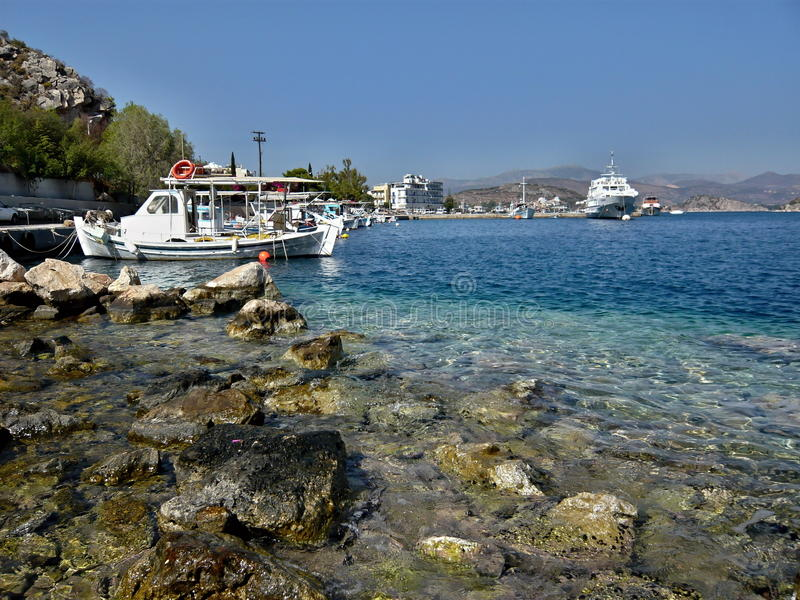 Grécia, Tolo-no porto foto de stock royalty free