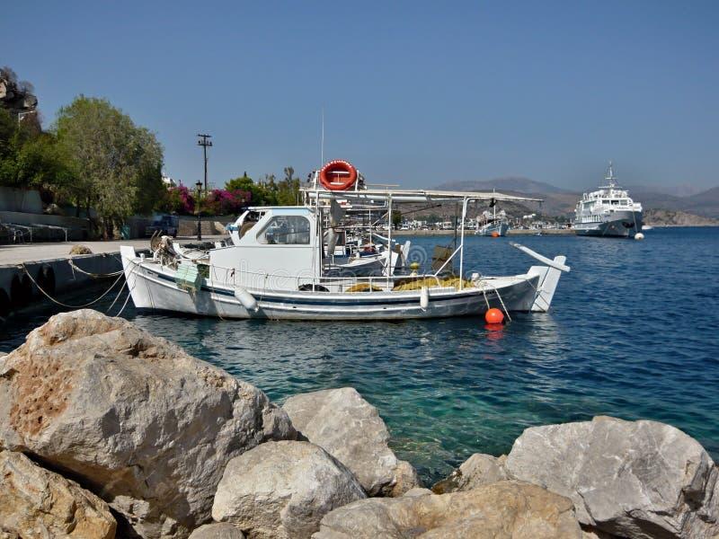 Grécia, Tolo-no porto fotografia de stock