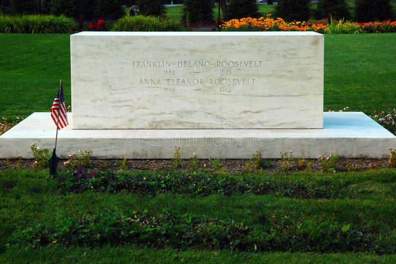Grób Franklin Roosevelt i Eleanor zdjęcie stock
