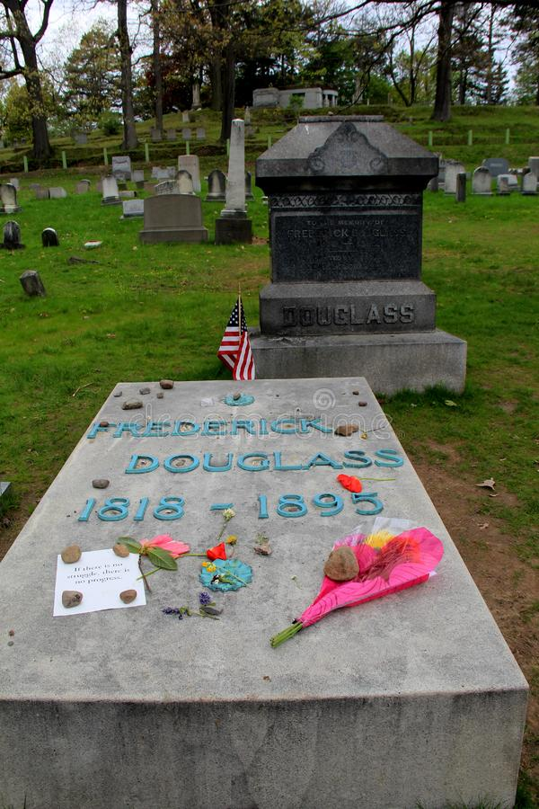 Grób Frederick Douglas, góry nadziei cmentarz, Rochester, Nowy Jork, 2016 obrazy royalty free