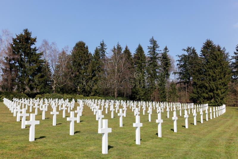 Grób przy Amerykańskim militarnym cmentarzem w Sandweiler fotografia royalty free