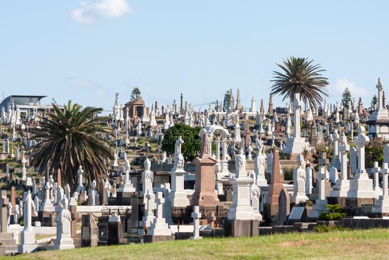 Grób w Waverley cmentarzu obrazy royalty free