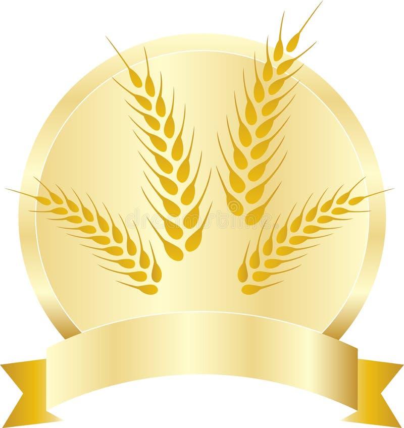 Grões do trigo ilustração stock