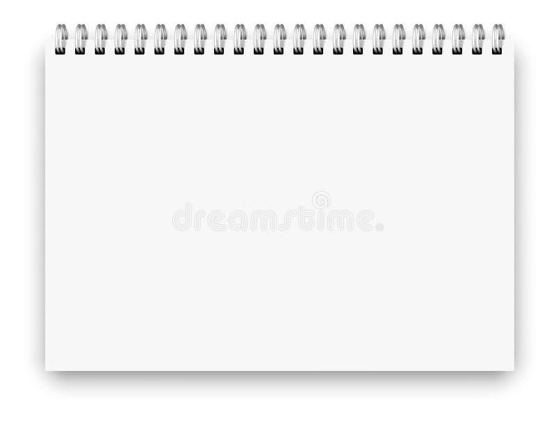 Größe des Notizbuches a4 stock abbildung