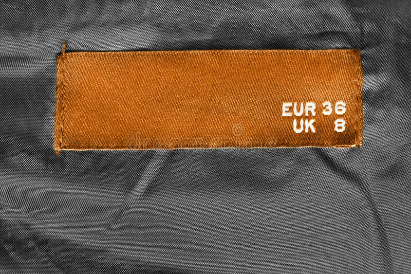 36 Größenkleidung beschriftet stockbilder