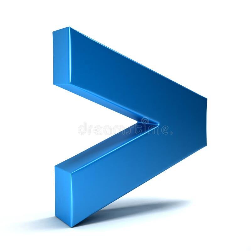 Größer als Mathe-Symbol lizenzfreie abbildung