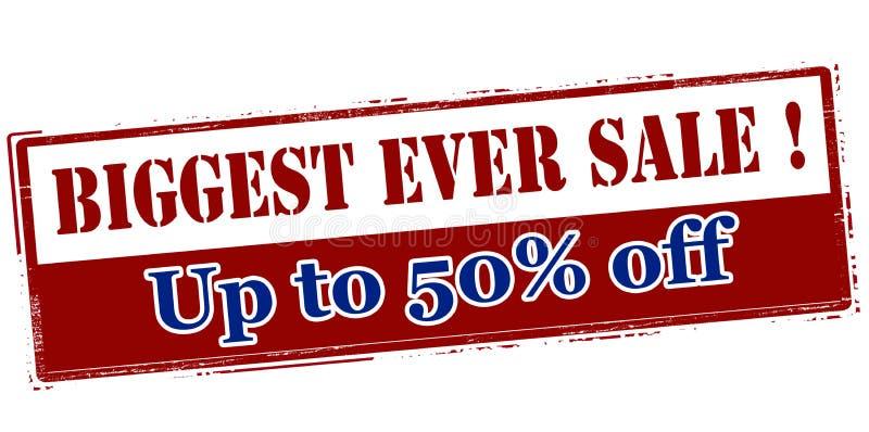 Größter überhaupt Verkauf bis fünfzig Prozent weg stock abbildung
