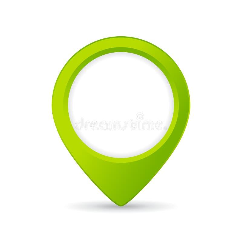 Grön översiktslägesymbol royaltyfri illustrationer