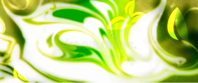 Grön abstrakt bakgrund stock illustrationer