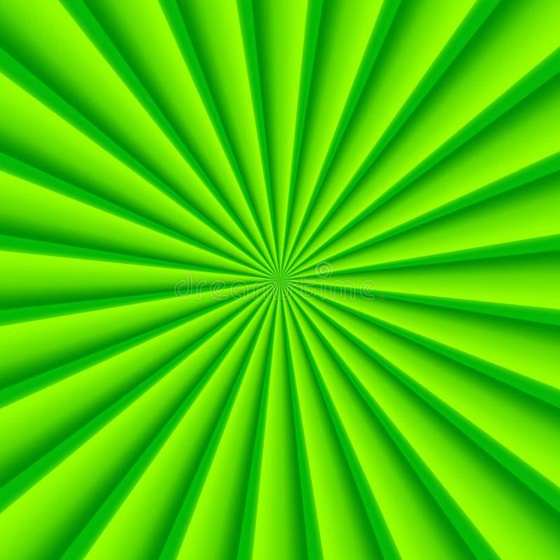 Grön abstrakt bakgrund för strålcirkelvektor stock illustrationer