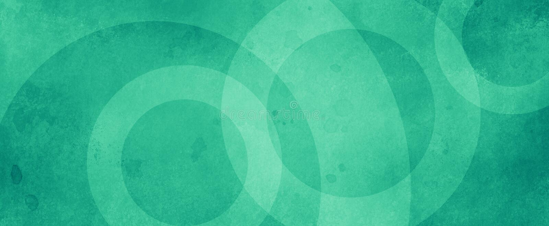 Grön, abstrakt bakgrund med vita cirkelringar i kränkt krackad vintage grunge texturdesign, gammalt geometriskt mönsterpapper i royaltyfri bild
