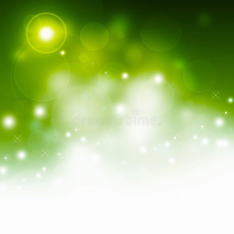 Grön abstrakt festlig illustration royaltyfri illustrationer