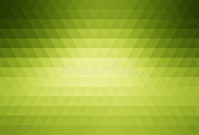 Grön abstrakt mosaikbakgrund stock illustrationer