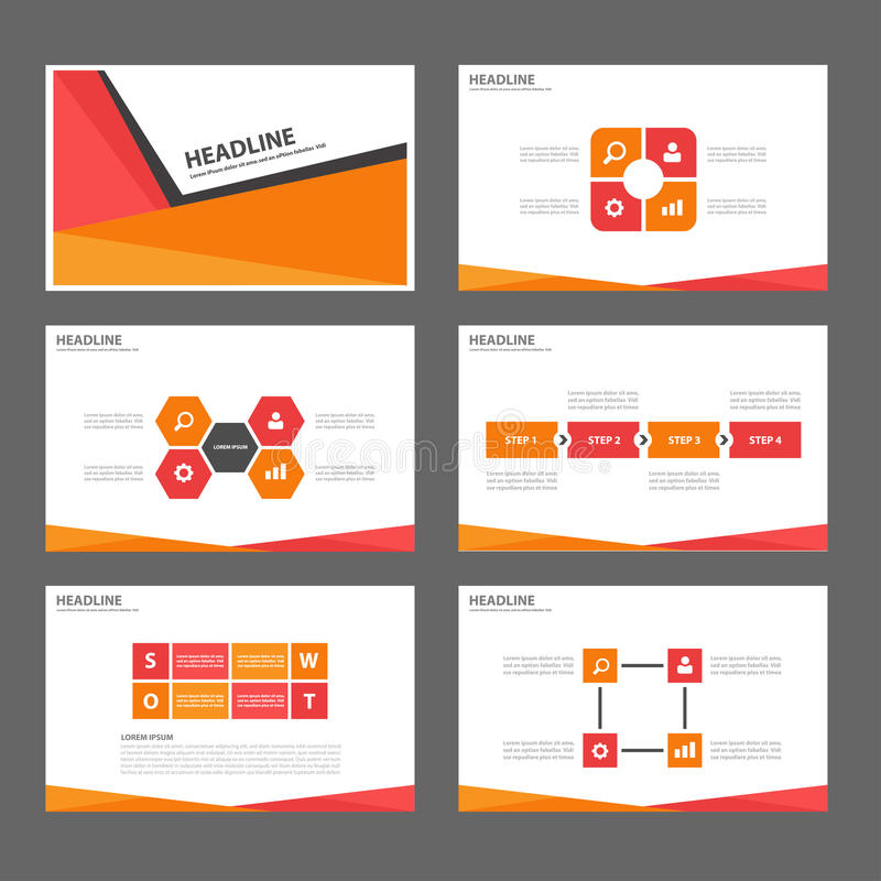 Grön abstrakt uppsättning för format för mall a4 för beståndsdel för presentation för tidskrift för broschyrrapportreklamblad för vektor illustrationer