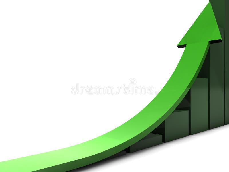Grön affärstrend vektor illustrationer