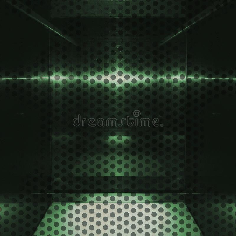 Grön aluminum yttersida för friläge med hål Metallisk geometrisk texturbakgrund vektor illustrationer