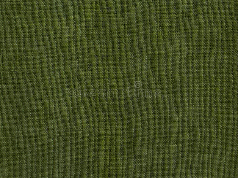 Grön bakgrund för linnetygtextur arkivbild